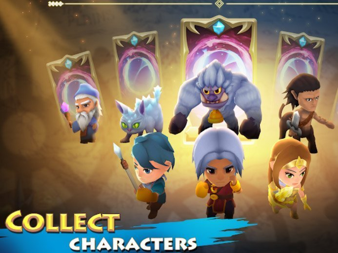 Android strategická hra Beast Quest Ultimate Heroes