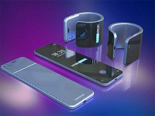 Samsung ohebný telefon na hodinky