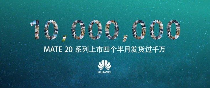 Huawei Mate 20 a 10 milionu prodaných telefonu