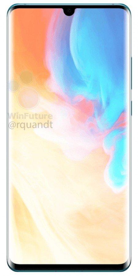 Huawei P30 - přední část telefonu