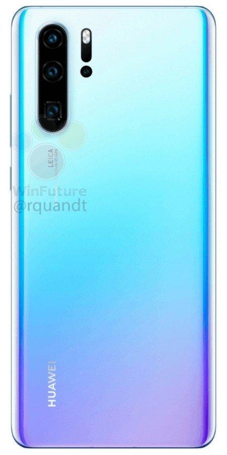 Huawei P30 - zadní část telefonu