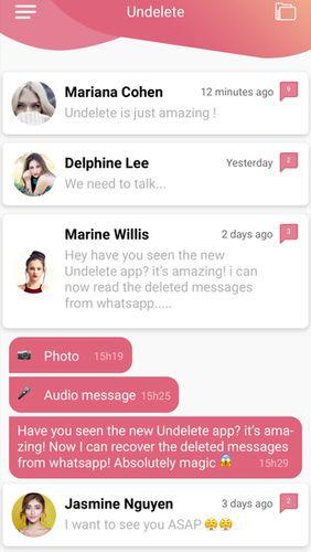 Aplikace Undelete - obnovte smazané zprávy