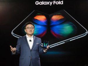 Infografika k telefonu Samsung Galaxy Fold