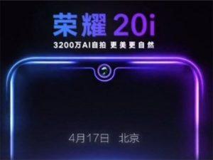Honor 20i bude oficiálně představen 17. dubna