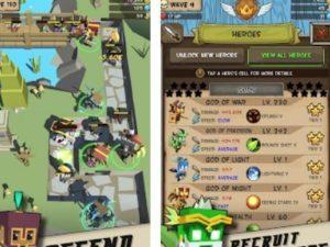 Hra Idle Hero TD - Fantasy Tower Defense