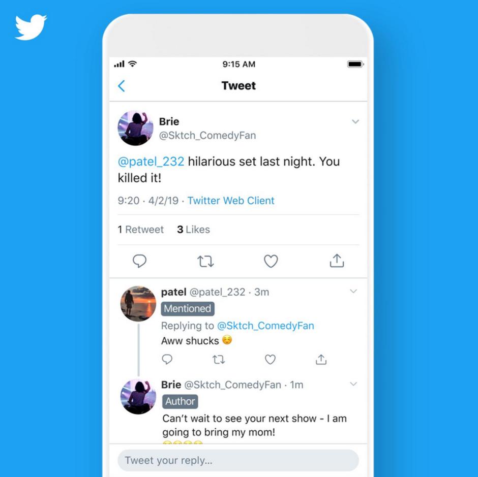 Nálepky Tweetu pro lepší orientaci ve vlákně