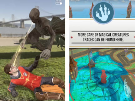 Android AR hra Harry Potter: Wizards Unite