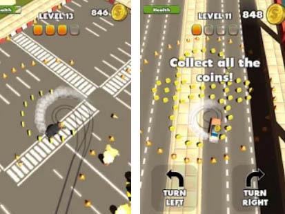 Android arkádová hra Stunt Drift