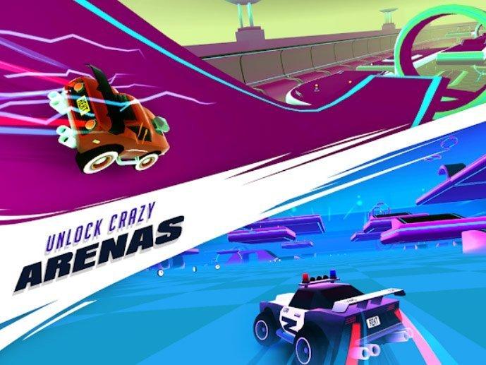 Android závodní hra REKT! - High Octane Stunts