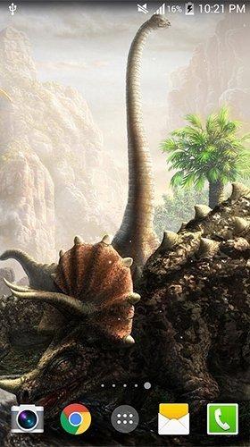Aplikace živé tapety s dinosaury