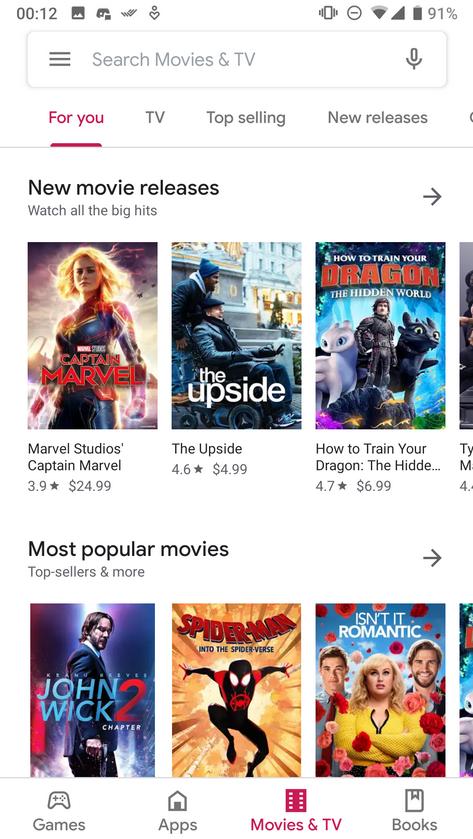 Nové UI Google obchodu
