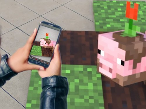 Android hra Minecraft AR