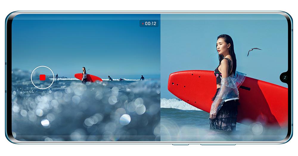 Huawei P30 Pro s duálním zobrazením videa