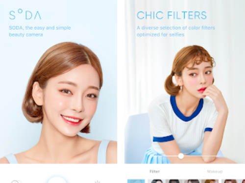 Aplikace SODA - Natural Beauty Camera