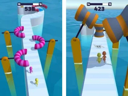 Android zábavná hra Fun Race 3D