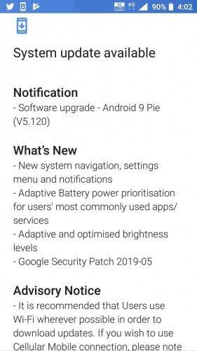 Nokia 3 aktualizace Android Pie