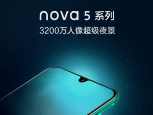 Huawei nova 5 se 32 MPx selfie fotoaparátem