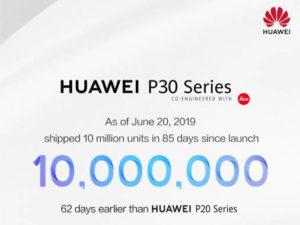 Huawei P30 série jde na dračku