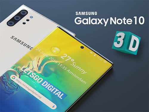 Samsung Galaxy Note 10 s 3D