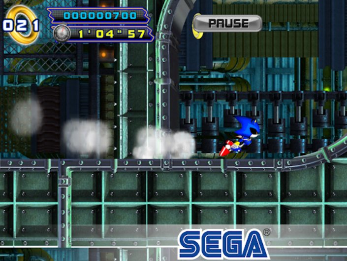 Android hra Sonic The Hedgehog 4 Episode II