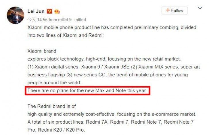 Xiaomi ruší série Mi Max a Mi Note