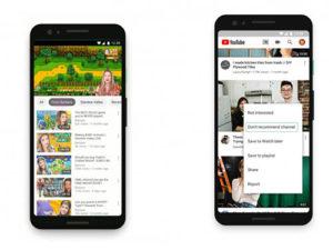 YouTube vám dá více možností. Uvidíte jen to, co chcete.