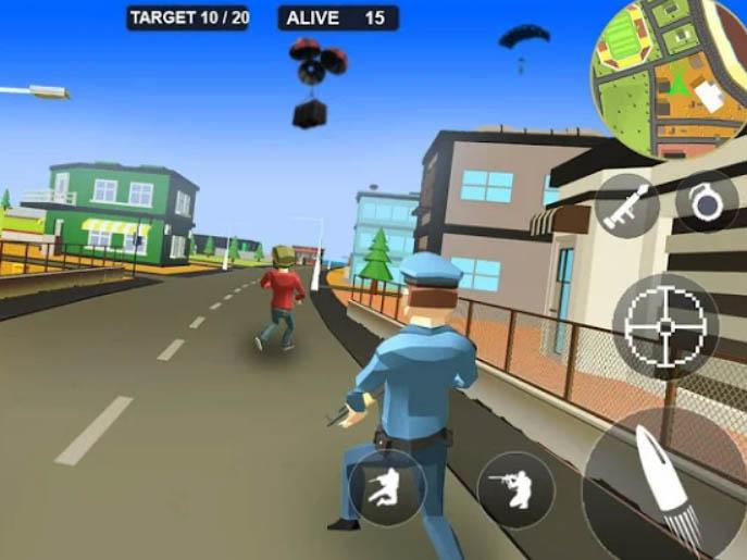Akční hra Pixel Battle Royale