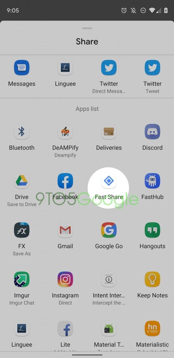 Aplikace Fast Share