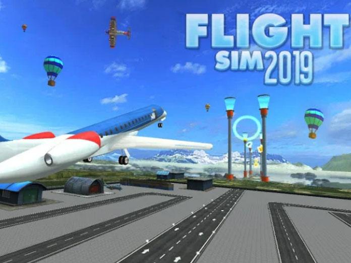 Android simulátor Flight Sim 2019