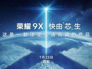 Honor 9X se představí 23. července