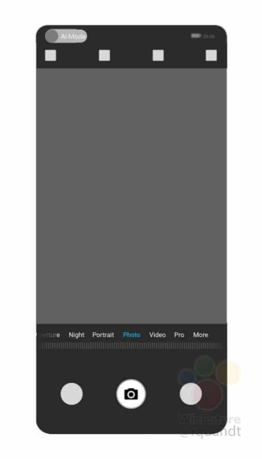 Huawei a UI se senzorem fotoaparátu pod displejem
