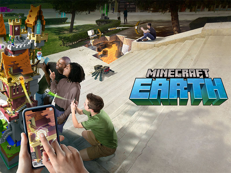 Hra AR Minecraft Earth