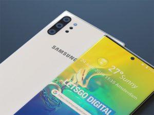 Samsung Galaxy Note 10 s objektive DepthVision