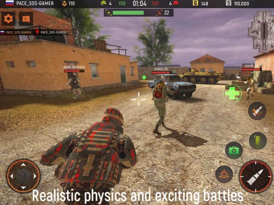 Hra Striker Zone: 3D Online Shooter