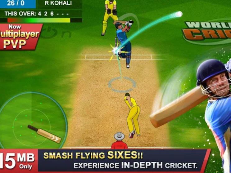 Android sportovní hra World of Cricket