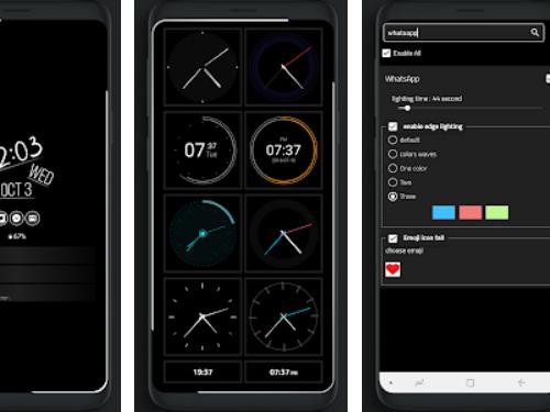 Aplikace Always On Edge - Edge Lighting