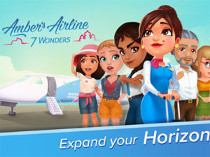 Android hra Amber's Airline - 7 Wonders ✈️