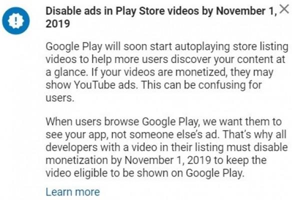 Google aplikace a reklamy ve videích