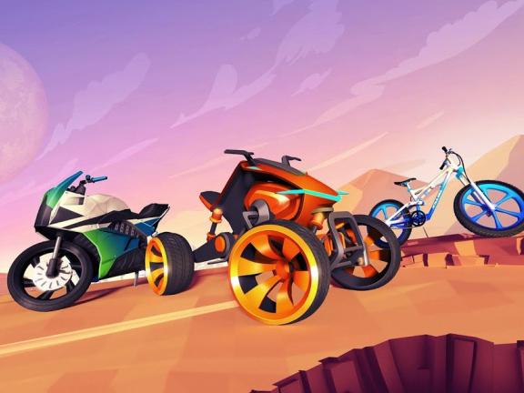 Závodní hra Gravity Rider Zero