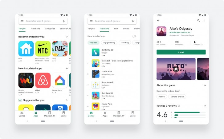 Google obchod material design