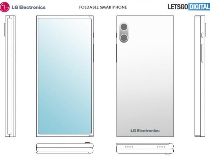 LG skládaný telefon