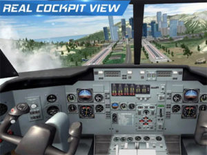 Hra Airplane flight pilot simulator
