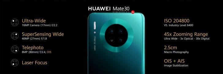 Huawei Mate 30 Fotoaparát