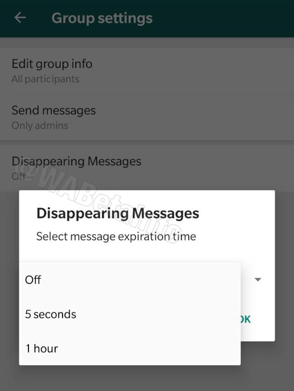 WhatsApp funkce pro samo-destruktivní zprávy