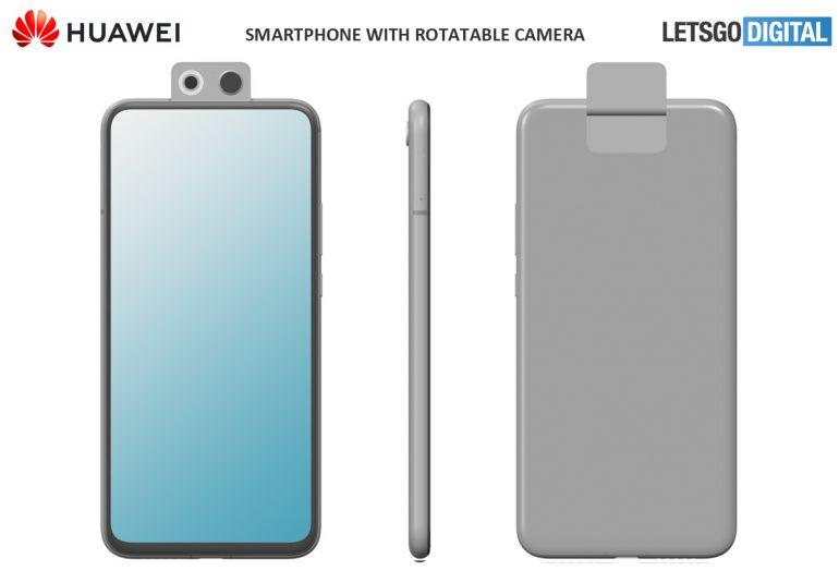 Huawei chytrý telefon s otočnou kamerou