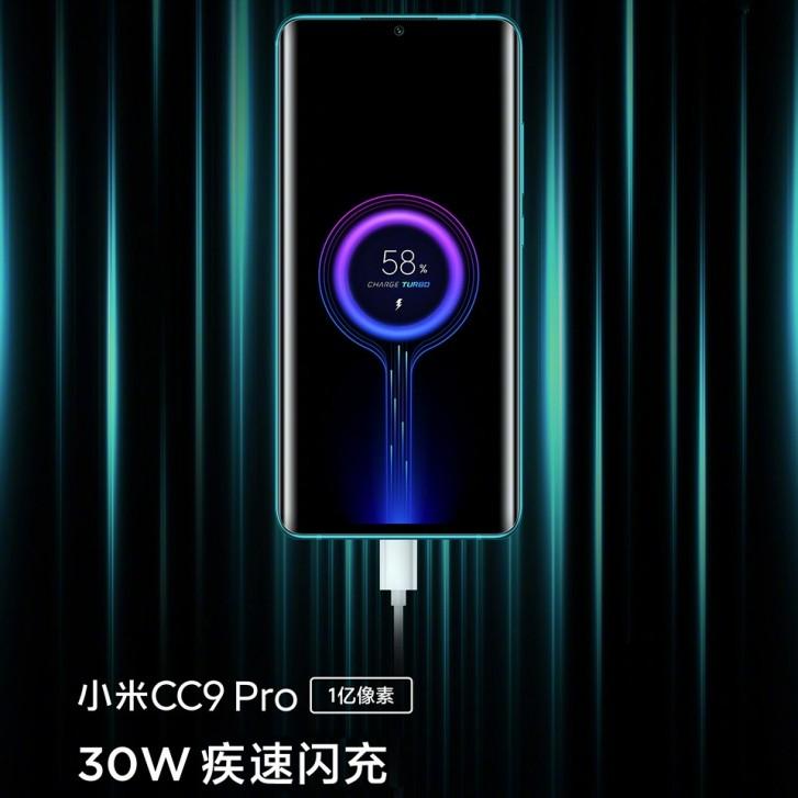 Xiaomi Mi CC9 Pro s rychlým nabíjením