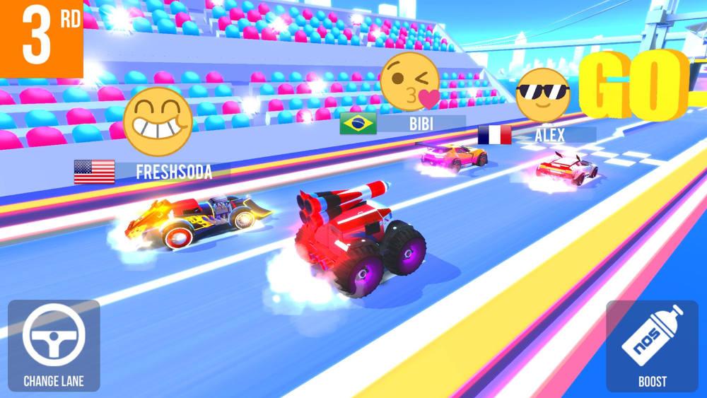 Hra na mobil SUP Multiplayer Racing