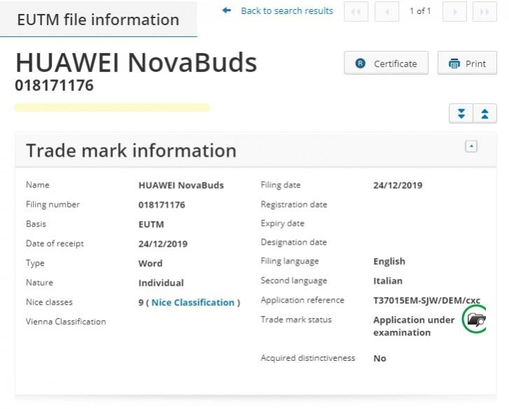 Huawei NovaBuds