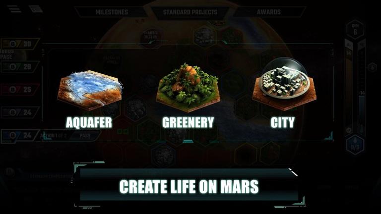 Hra na mobil Game News Terraforming Mars