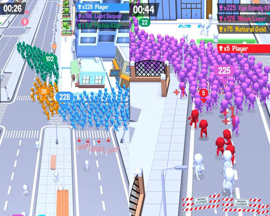 Hra na mobil Crowd City